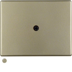 10049011 Centre plate for cable outlet light bronze matt,  lacquered