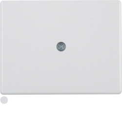 10050069 Centre plate for cable outlet polar white glossy
