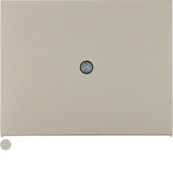 10057004 Centre plate for cable outlet Berker K.5, stainless steel matt,  lacquered