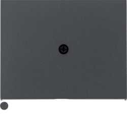 10057006 Centre plate for cable outlet Berker K.1, anthracite matt,  lacquered