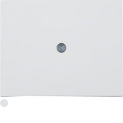 10057009 Centre plate for cable outlet Berker K.1, polar white glossy