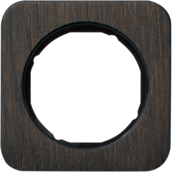 10112354 Frame 1gang Berker R.1, oak/black glossy,  stained wood