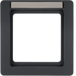 10116016 Frame 1gang with labelling field,  Berker Q.1, anthracite velvety,  lacquered