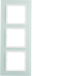10136909 Glass frame 3gang Berker B.7, glass polar white/polar white matt
