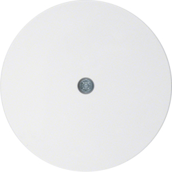 10192089 Centre plate for cable outlet Berker R.1/R.3/R.classic,  polar white glossy