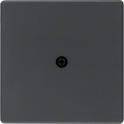 10196086 Centre plate for cable outlet Berker Q.1/Q.3/Q.7/Q.9, anthracite velvety,  lacquered