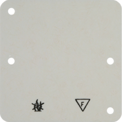 102112 Base plate 1gang,  self-extinguishing Surface-mounted accessories,  white