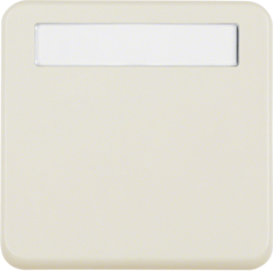 102250 Intermediate ring with hinged cover with labelling field,  Splash-protected flush-mounted IP44, white glossy