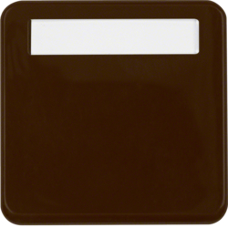 102251 Intermediate ring with hinged cover with labelling field,  Splash-protected flush-mounted IP44, brown glossy