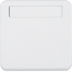 102259 Intermediate ring with hinged cover with labelling field,  Splash-protected flush-mounted IP44, polar white glossy