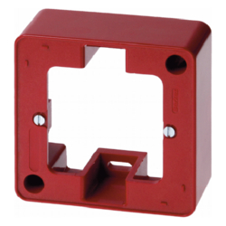 10290062 Frame 1gang surface-mounted Surface-mounted accessories,  red glossy