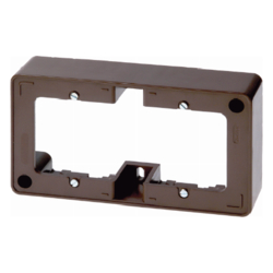 10300001 Frame 2gang surface-mounted Surface-mounted accessories,  brown glossy