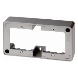 10309004 Frame 2gang surface-mounted Surface-mounted accessories,  stainless steel,  lacquered
