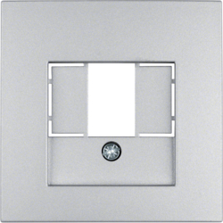 10331404 Centre plate with TAE cut-out knock out,  Berker S.1/B.7, aluminium,  matt,  lacquered