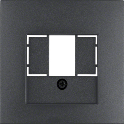 10331606 Centre plate with TAE cut-out knock out,  Berker S.1/B.3/B.7, anthracite,  matt