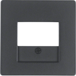 10336086 Centre plate with TAE cut-out Berker Q.1/Q.3, anthracite velvety,  lacquered