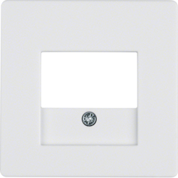 10336089 Centre plate with TAE cut-out Berker Q.1/Q.3, polar white velvety