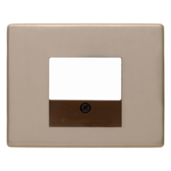 10340001 Centre plate with TAE cut-out Berker Arsys,  light bronze matt,  aluminium lacquered