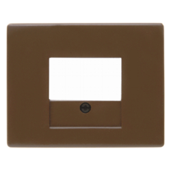 10350101 Centre plate with TAE cut-out Berker Arsys,  brown glossy