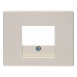 10350102 Centre plate with TAE cut-out Berker Arsys,  white glossy