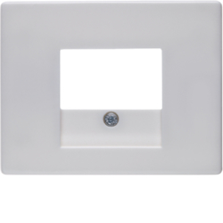 10350169 Centre plate with TAE cut-out Berker Arsys,  polar white glossy