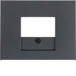 10357006 Centre plate with TAE cut-out Berker K.1, anthracite matt,  lacquered
