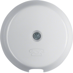 1037 Centre plate for cable outlet polar white glossy