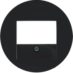 10382045 Centre plate with TAE cut-out Berker R.1/R.3/R.classic,  black glossy