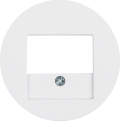 10382089 Centre plate with TAE cut-out Berker R.1/R.3/R.classic,  polar white glossy