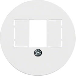 1040 Centre plate with TAE cut-out knock out,  Serie 1930/Glas,  polar white glossy