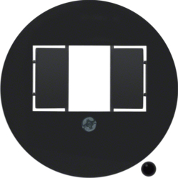 104001 Centre plate with TAE cut-out knock out,  black glossy