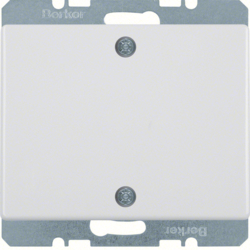 10450169 Blind plug with centre plate,  screw-on Berker Arsys,  polar white glossy