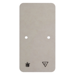 105440 Base plate self-extinguishing for combination 2gang Surface-mounted accessories,  white