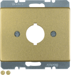10700102 Centre plate with installation opening Ø 18.8 mm Berker Arsys,  gold matt,  aluminium anodised