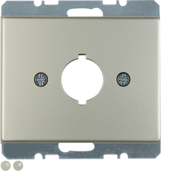 10700104 Centre plate with installation opening Ø 18.8 mm Berker Arsys,  stainless steel,  metal matt finish