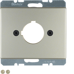 10710104 Centre plate with installation opening Ø 22.5 mm Berker Arsys,  stainless steel,  metal matt finish