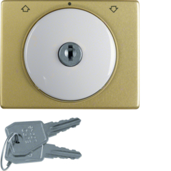 10790169 Centre plate with lock and push lock function for switch for blinds Key can be removed in 3 positions,  Berker Arsys,  polar white glossy