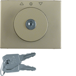 10790401 Centre plate with lock and push lock function for switch for blinds Key can be removed in 3 positions,  Berker Arsys,  light bronze matt,  aluminium lacquered