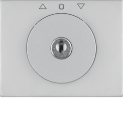 10797204 Centre plate with lock and push lock function for switch for blinds Key can be removed in 3 positions,  Berker K.5, stainless steel,  metal matt finish