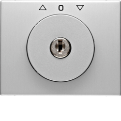 10797303 Centre plate with lock and touch function for switch for blinds Key can be removed in 0 position,  Berker K.5, Aluminium,  aluminium anodised