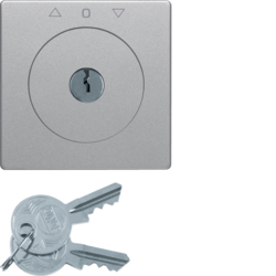 10816084 Centre plate with lock and push lock function for switch for blinds Key can be removed in 0 position,  Berker Q.1/Q.3/Q.7/Q.9