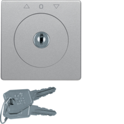 10836084 Centre plate with lock and touch function for switch for blinds Key can be removed in 0 position,  Berker Q.1/Q.3/Q.7/Q.9