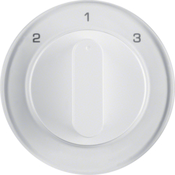 10842089 Centre plate with rotary knob for 3-step switch Berker R.1/R.3/R.8, polar white glossy