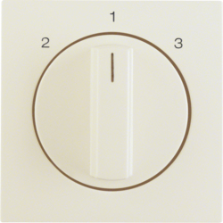 10848982 Centre plate with rotary knob for 3-step switch Berker S.1, white glossy