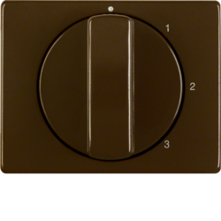 10870001 Centre plate with rotary knob for 3-step switch with neutral-position,  brown glossy