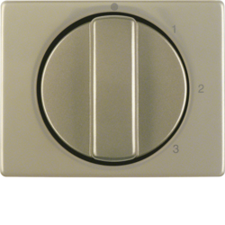 10870101 Centre plate with rotary knob for 3-step switch with neutral-position,  light bronze matt,  aluminium lacquered