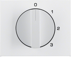 10877109 Centre plate with rotary knob for 3-step switch with neutral-position,  Berker K.1, polar white glossy