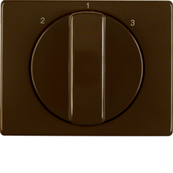 10880001 Centre plate with rotary knob for 3-step switch brown glossy