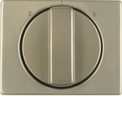 10880101 Centre plate with rotary knob for 3-step switch light bronze matt,  aluminium lacquered