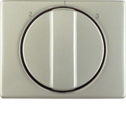 10880104 Centre plate with rotary knob for 3-step switch stainless steel,  metal matt finish